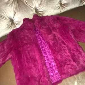 Wilsons Leather Faux Fur Pink Coat